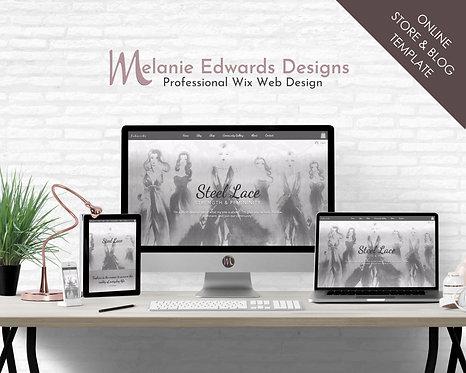 Steel Lace Wix Blog w Online Store
