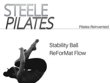 Steele Pilates Stability Ball ReForMat Flow
