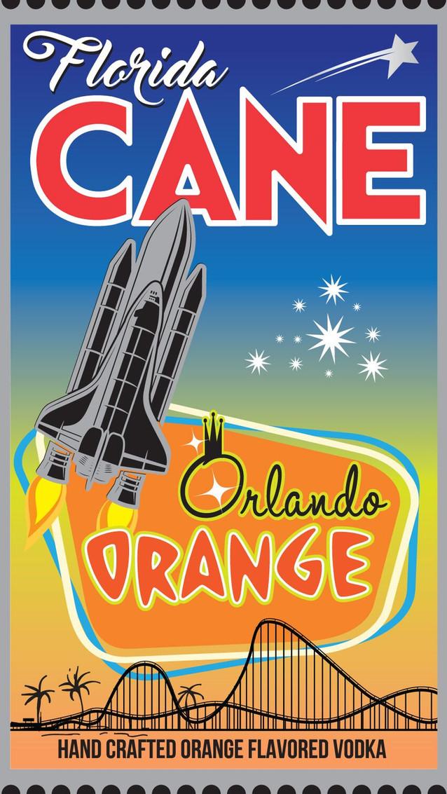 Florida CANE Orlando Orange Vodka