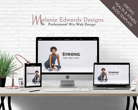 Health Fitness Wix Blog Template
