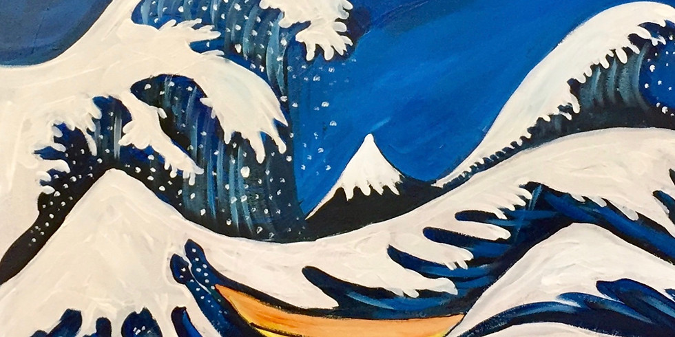 Hope For A Great Wave!-Virtual or In- Person  Artsy Party