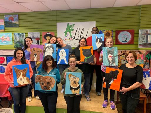 Paint Your Pet Public Artsy Party July 14, 3-6pm