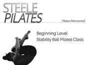 Beginning Level Stability Ball Class
