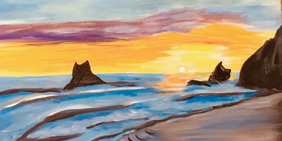 Pacific Sunset Artsy Party