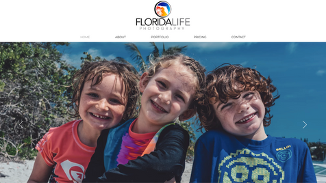 Florida Life Photography Website Design