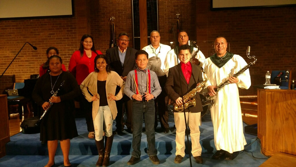 Worship band at Prospect UMC, the largest Native American United Methodist congregation in the United States.