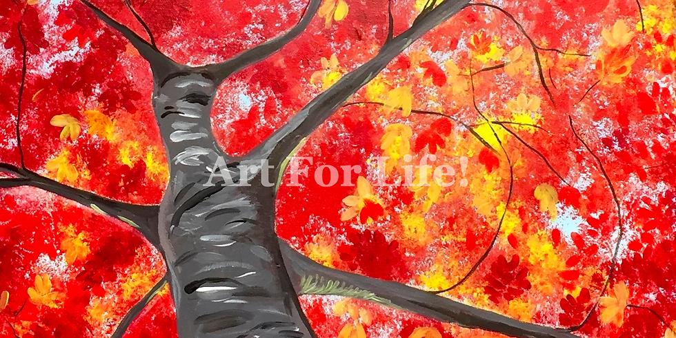 Red Maple Tree Shade-Public Artsy Party