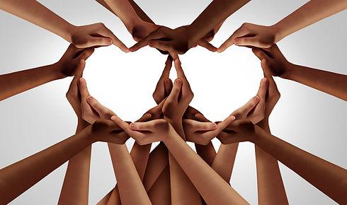 Diversity love and unity partnership as