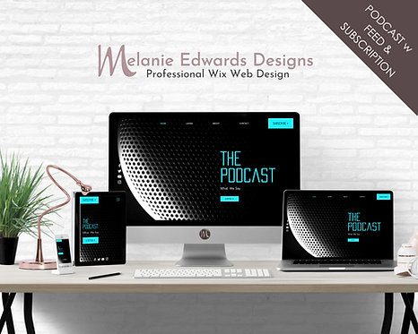 Simple Podcast Wix Website Template