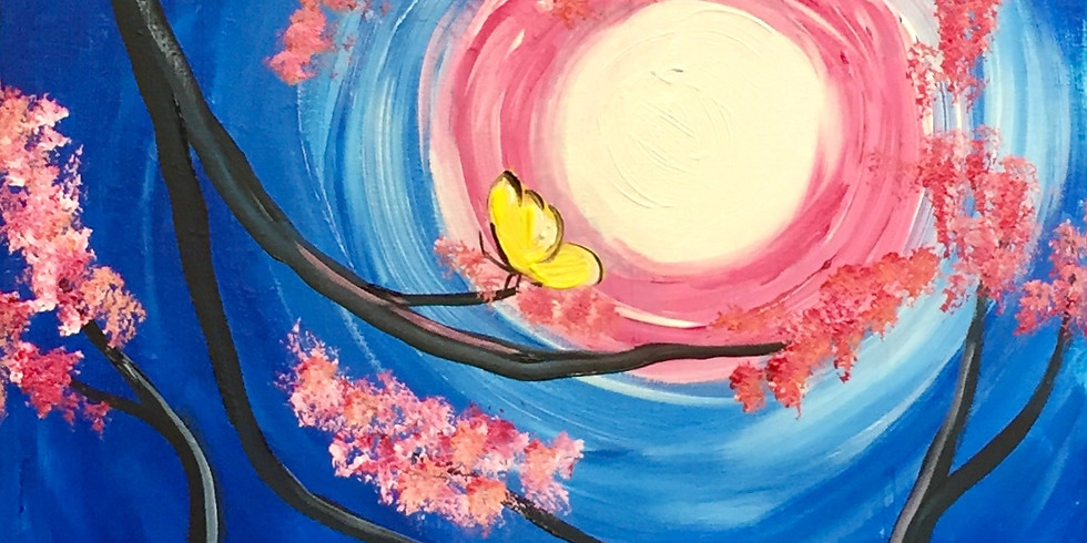 Cherry Blossom Butterflies!-Virtual/In person Artsy Party