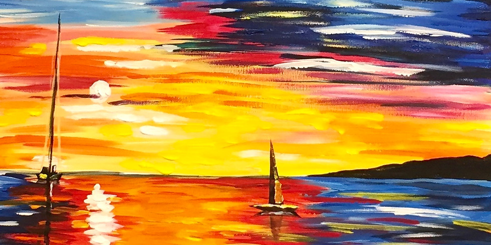 Sailing In The Sunset! -Virtual or In- Person  Artsy Party