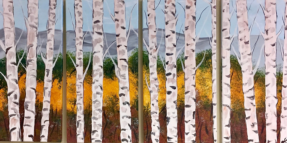 Birches Mural-Public Artsy Party ( Family-Project) -CANCELED-
