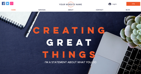 MEDesigns Template   Business site option