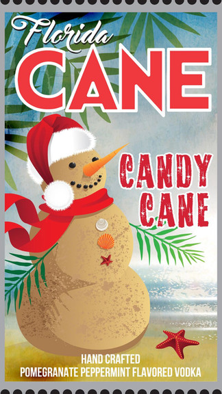 Florida CANE Candy Cane Vodka