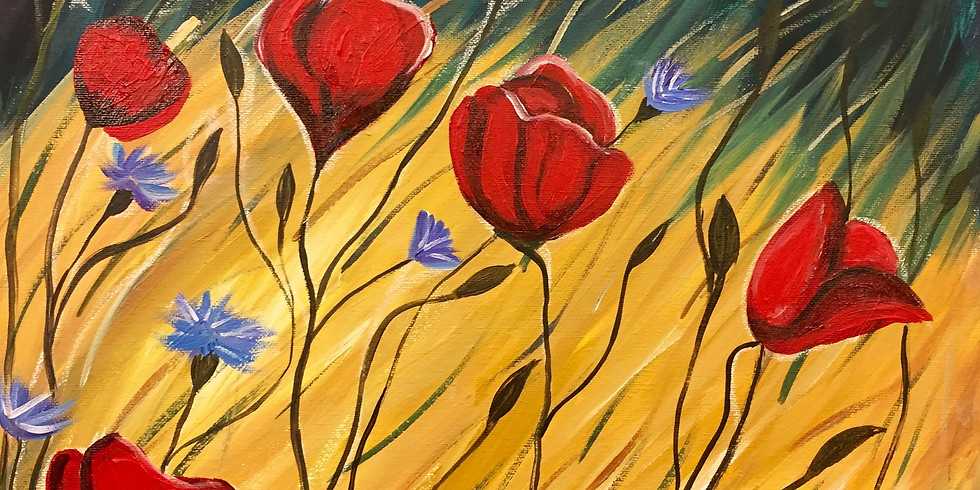 Red Poppies!-Public Artsy Party