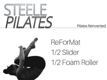 Steele Pilates ReForMat 1/2 Sliders, 1/2 Foam Roller