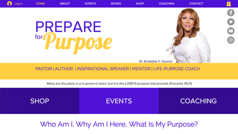 Prepare for Purpose | Dr. Ernestine Y. Council