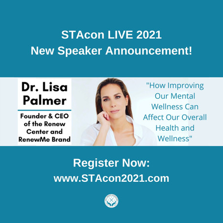 Nationally and Internationally Recognized Psychotherapist Dr. Lisa Palmer to Speak at STAcon LIVE