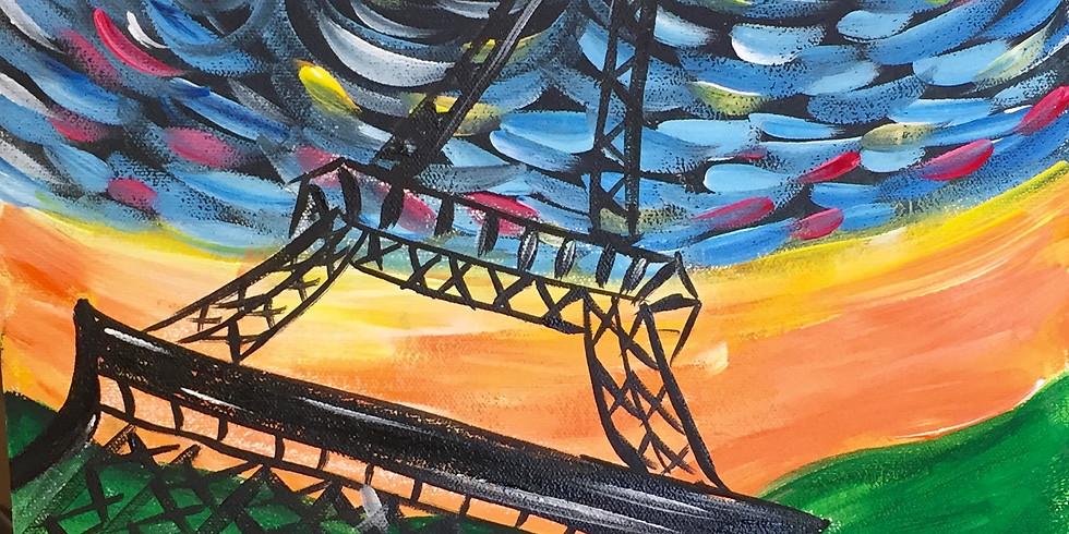 Van Gogh Eiffel Tower- Public Artsy Party