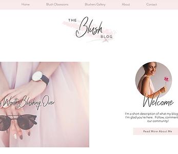 Blushing Blog Template