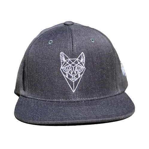 Grey Snapback - Cat Face
