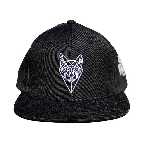 Black Snap Back - Cat Face