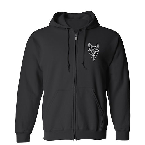 Men's Hoodie, Cat Face, C&BR