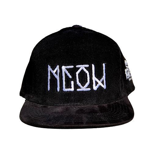"Black Corduroy Camper Snapback - ""Bekm 1"" Meow"