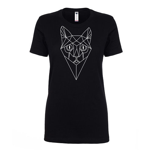 Cats & Boots Records - Women's Tee Cat Face outline