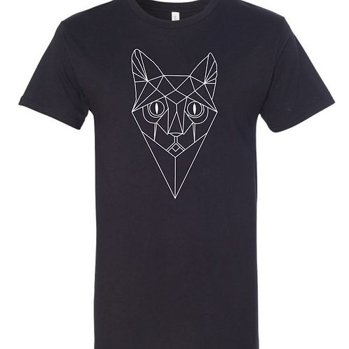 Cats & Boots Records - Drop Tail Tee, Cat Face