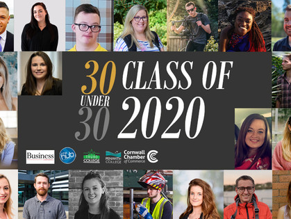 WINNER: Cornwall 30 Under 30 - class of 2020!