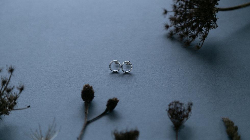 Sterling Silver Stud Earrings 'The Full Moon'