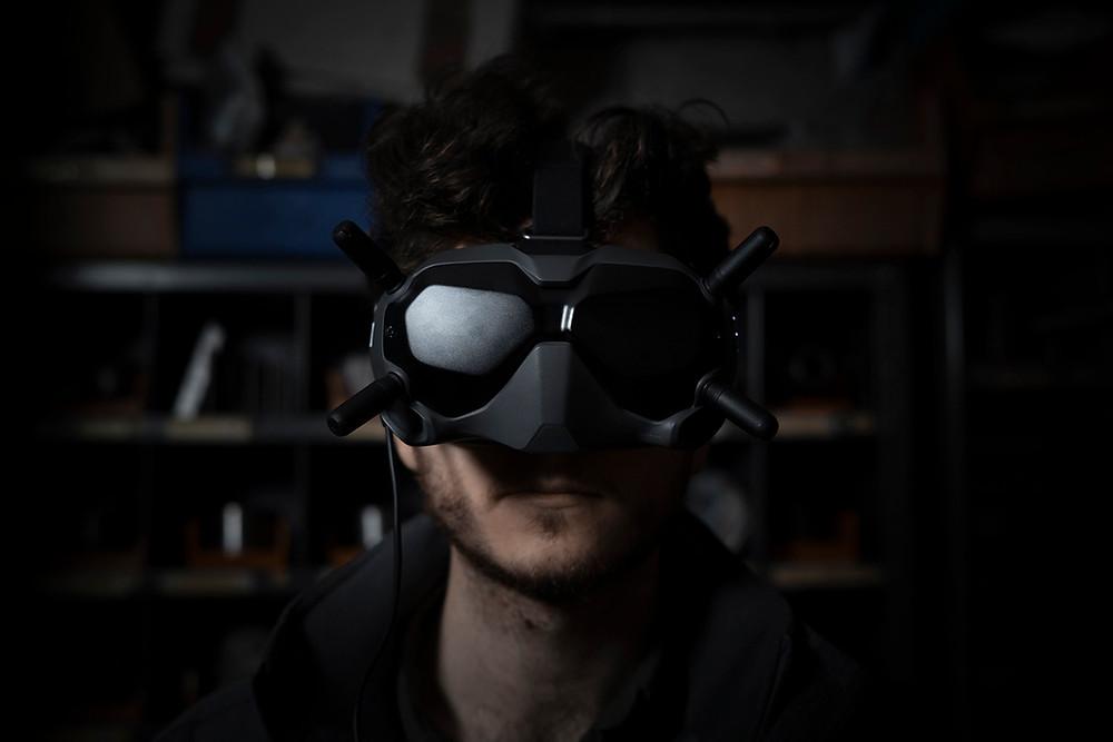 DJI FPV drone video goggles