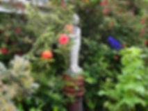 Reconstituted Stone standing buddha garden ornament