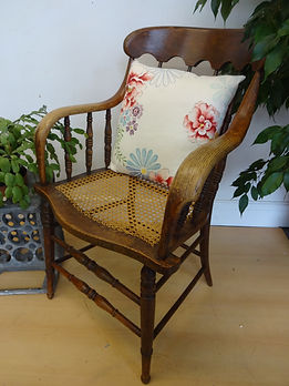 Ratten wooden french arm chair