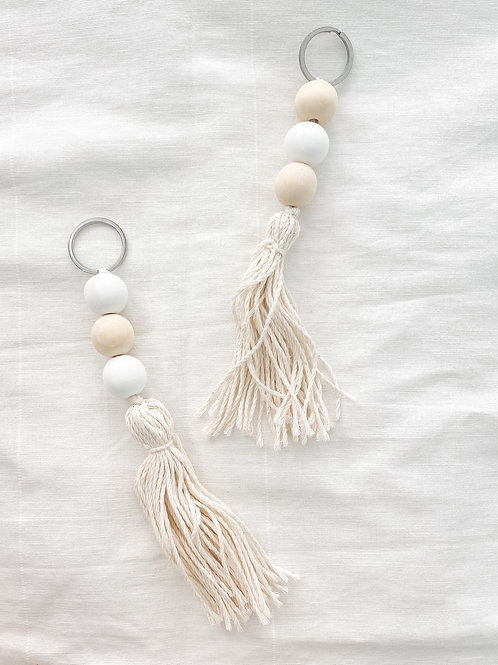 Simply Styled | Wood Bead Keychain