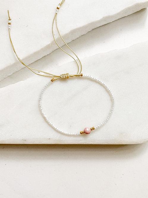 Agua Santa | Blush Beaded Bracelets