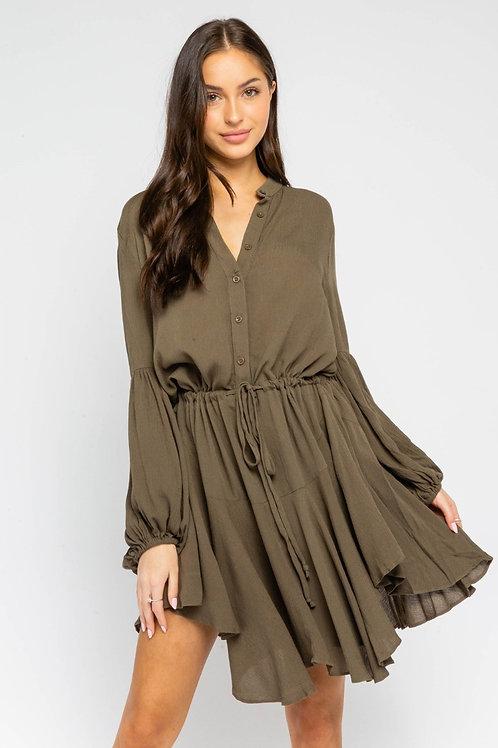 The Maddox Dress   Olive