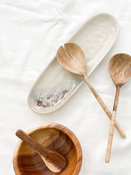 Bamboo Wood Salad Servers