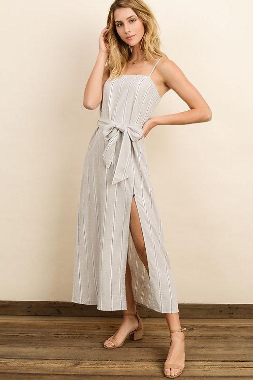 The Danarys Striped Linen Dress