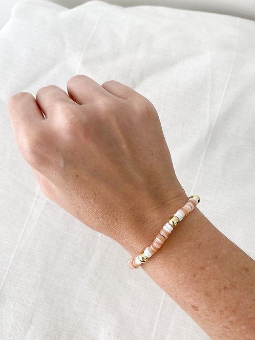 Agua Santa   Coral Seashell Bracelet