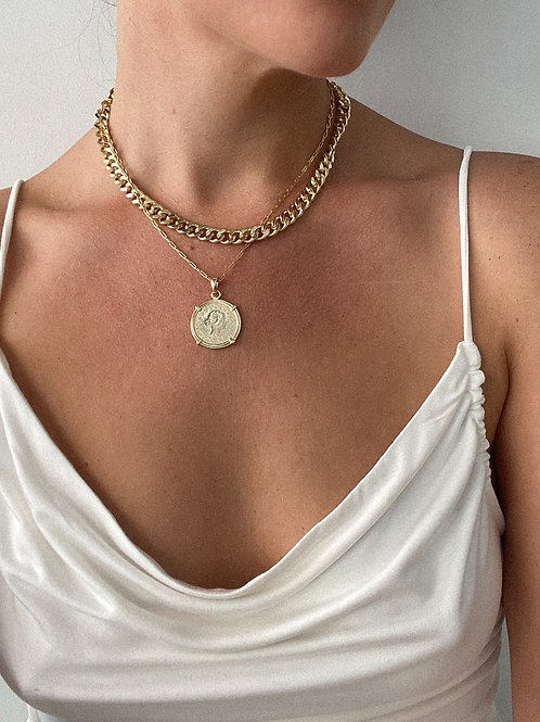 Elan Jewels | Gold Coin Necklace