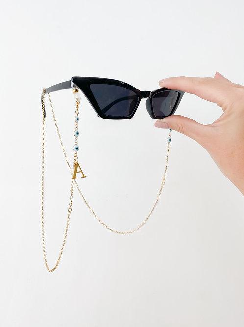 AGUA SANTA |  Initial + Turkish Eyes Sunglass/Mask Cord