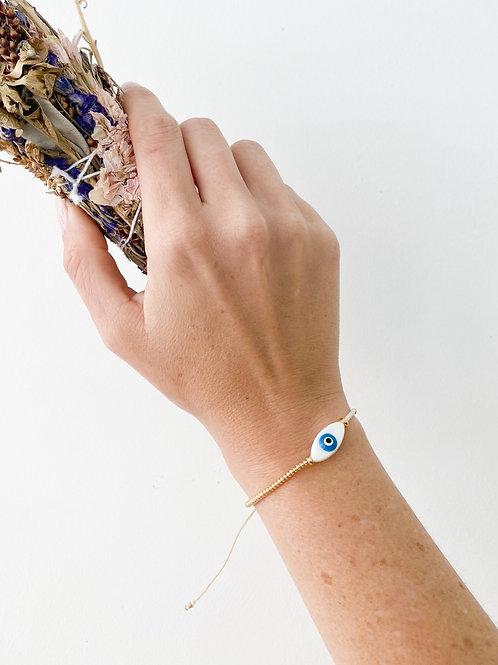 Agua Santa | Evil Eye Beaded Bracelet