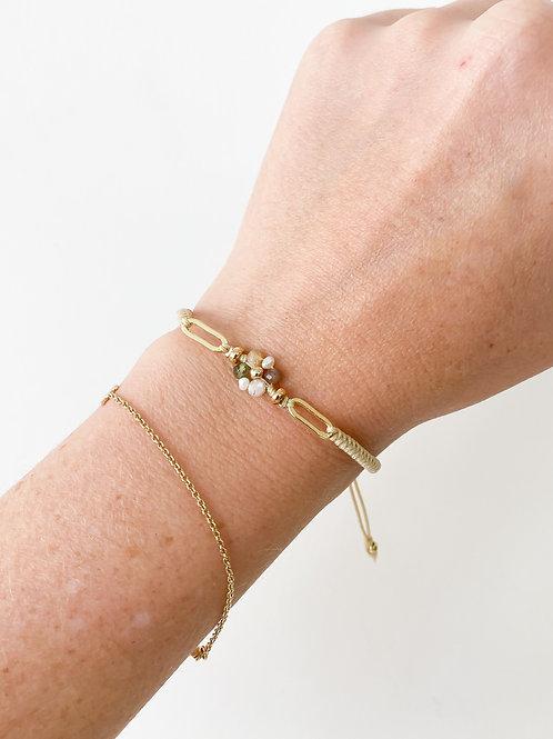 Agua Santa |  Flower Bead Bracelet
