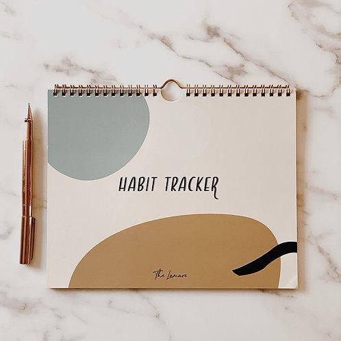 The Lamare   Habit Tracker 12 Month Calendar
