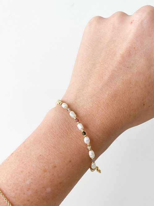 Agua Santa    Pearl Bead Bracelet