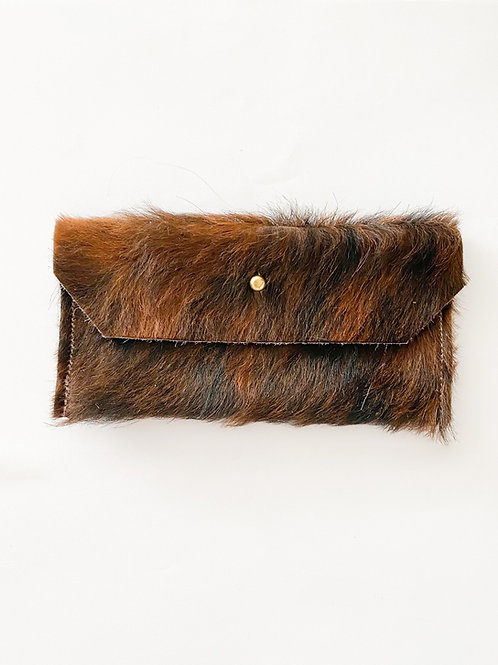 Fur Wallet | Medium Cherry Brindle