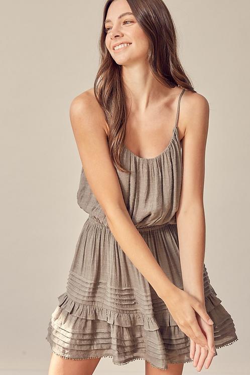 The Bexley Mini Dress | Deep Taupe