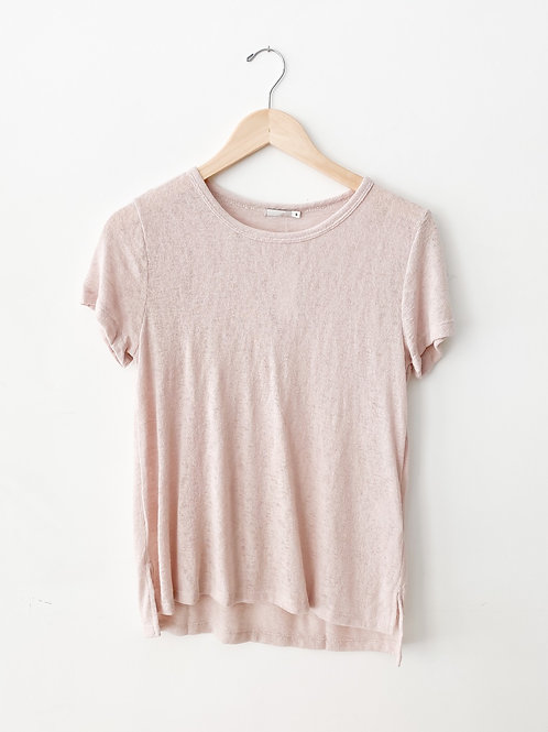 Melrose Crew Neck T | Blush